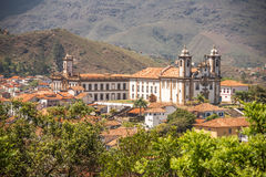 De kerk van Onze Dame van Onderstel Carmel, Ouro Preto - Brazilië Stock Foto