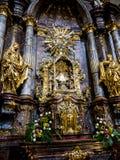 De Kerk van Onze Dame Victorious verwees als Heiligdom van de Zuigeling Jesus van Praag, in Mala Strana, ook ?Lesser Quarter ? royalty-vrije stock foto