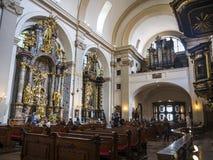 De Kerk van Onze Dame Victorious verwees als Heiligdom van de Zuigeling Jesus van Praag, in Mala Strana, ook ?Lesser Quarter ? royalty-vrije stock foto's