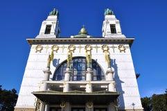 De Kerk van Otto Wagner, Wenen Stock Afbeeldingen