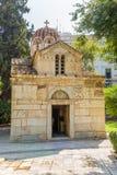 De kerk van Panagia Gorgoepikoos (de Kleine Metropool) Stock Foto