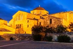 De Kerk van Panagiaekatontapyliani, Paros Stock Afbeelding