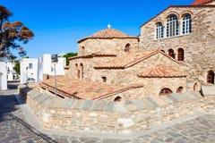 De Kerk van Panagiaekatontapyliani, Paros Stock Afbeeldingen