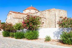 De Kerk van Panagiaekatontapyliani, Paros Stock Foto's