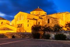 De Kerk van Panagiaekatontapyliani, Paros Stock Fotografie