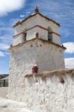 De Kerk van Parinacota, Chili Stock Afbeelding