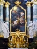 De Kerk van Paulite - Krakau - Polen Stock Foto's
