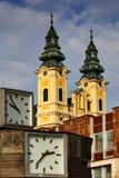 De Kerk van Piarist in Nitra stock foto