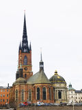 De Kerk van Riddarholm (Riddarholmskyrkan) in Stockholm Royalty-vrije Stock Fotografie