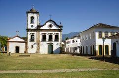 De kerk van Rita van de kerstman in Paraty royalty-vrije stock foto's
