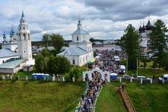 De Kerk van Rusland, van witte steen, Royalty-vrije Stock Foto