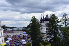 De Kerk van Rusland, van witte steen, Orthodox Christendom, Stock Foto