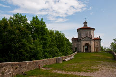 De kerk van Sacri van Monte Stock Foto's