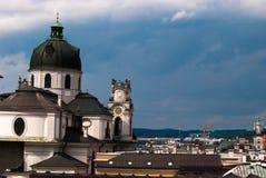 De kerk van Salzburg Stock Foto