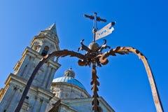 De kerk van San Biagio buiten Montepulciano (Italië). Stock Afbeeldingen