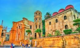 De Kerk van San Cataldo en Martorana in Palermo, Italië Stock Fotografie