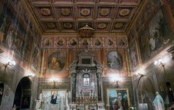 De kerk van San Cosimato in Rome Stock Foto