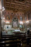 De kerk van San Cosimato in Rome Royalty-vrije Stock Afbeeldingen