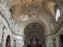 De kerk van San Filippo Neri in Turijn stock foto