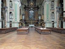 De kerk van San Filippo Neri in Turijn stock afbeeldingen