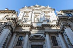 De kerk van San Gaetano Thiene, ook genoemd Teatini, is een godsdienstig die gebouw, in Vicenza langs Corso Palladio wordt gevest royalty-vrije stock foto's
