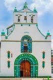 De kerk van San Juan Chamula door San Cristobal DE las Casas In Mexico stock foto