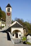De kerk van San Lorenzo in Camedo op Centovalli-vallei Stock Afbeelding