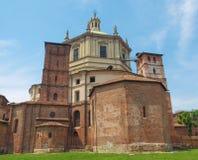De kerk van San Lorenzo, Milaan stock afbeelding