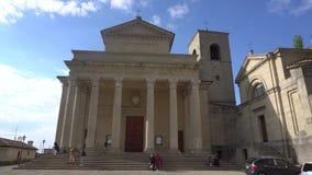 De Kerk van San Marino stock footage