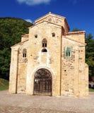 De kerk van San Miguel de Lillo in Oviedo Stock Afbeeldingen