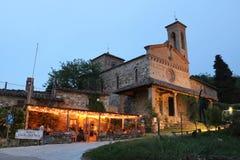 De kerk van San Miniato in Sicelle Toscanië, Italië Royalty-vrije Stock Afbeelding