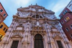 De Kerk van San Moise in Venetië Royalty-vrije Stock Afbeeldingen