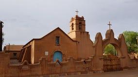 De kerk van San Pedro de Atacama, Chili stock afbeelding
