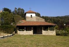 De kerk van San Pedro, Bakio, Baskische Contry, Stock Foto's
