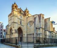 De kerk van San Vicente, San Sebastian, werd opgericht tussen de 15de en 16de eeuwen, Spanje stock foto's