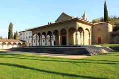 De kerk van Santa Maria delle Grazie, in Arezzo Stock Fotografie