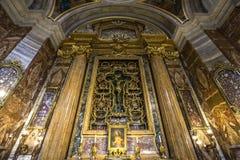 De kerk van Santignazio, Rome, Italië Royalty-vrije Stock Afbeeldingen