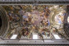 De kerk van Santignazio, Rome, Italië Royalty-vrije Stock Foto's