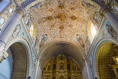 De kerk van Santo Domingo de Guzman in Oaxaca Mexico Stock Foto
