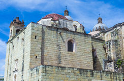 De kerk van Santo Domingo de Guzman in Oaxaca Mexico Royalty-vrije Stock Foto