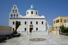 De Kerk van Santorini Stock Foto's
