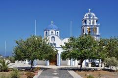 De kerk van Santorini Royalty-vrije Stock Afbeeldingen