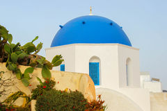De kerk van Santorini Royalty-vrije Stock Fotografie