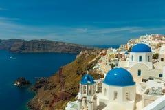 De kerk van Santorini Royalty-vrije Stock Foto's