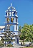 De kerk van Santorini Stock Foto