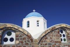 De Kerk van Santorini, Griekenland Royalty-vrije Stock Afbeeldingen