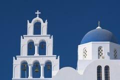 De Kerk van Santorini, Griekenland Stock Afbeeldingen
