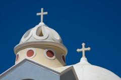 De Kerk van Santorini, Griekenland Stock Foto's