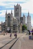 De Kerk van Sinterklaas gent belgië stock fotografie