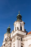 De Kerk van Sinterklaas in Praag Royalty-vrije Stock Foto